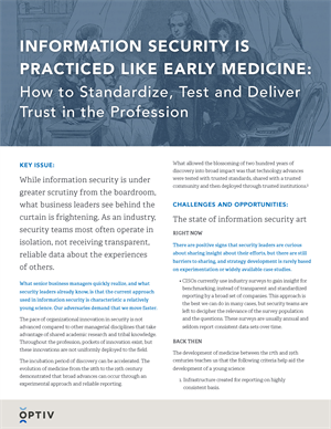 Information Security is Practiced Like Early Medicine