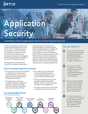 Application Security Capabilities Brief
