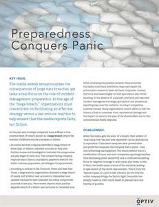 Preparedness Conquers Panic