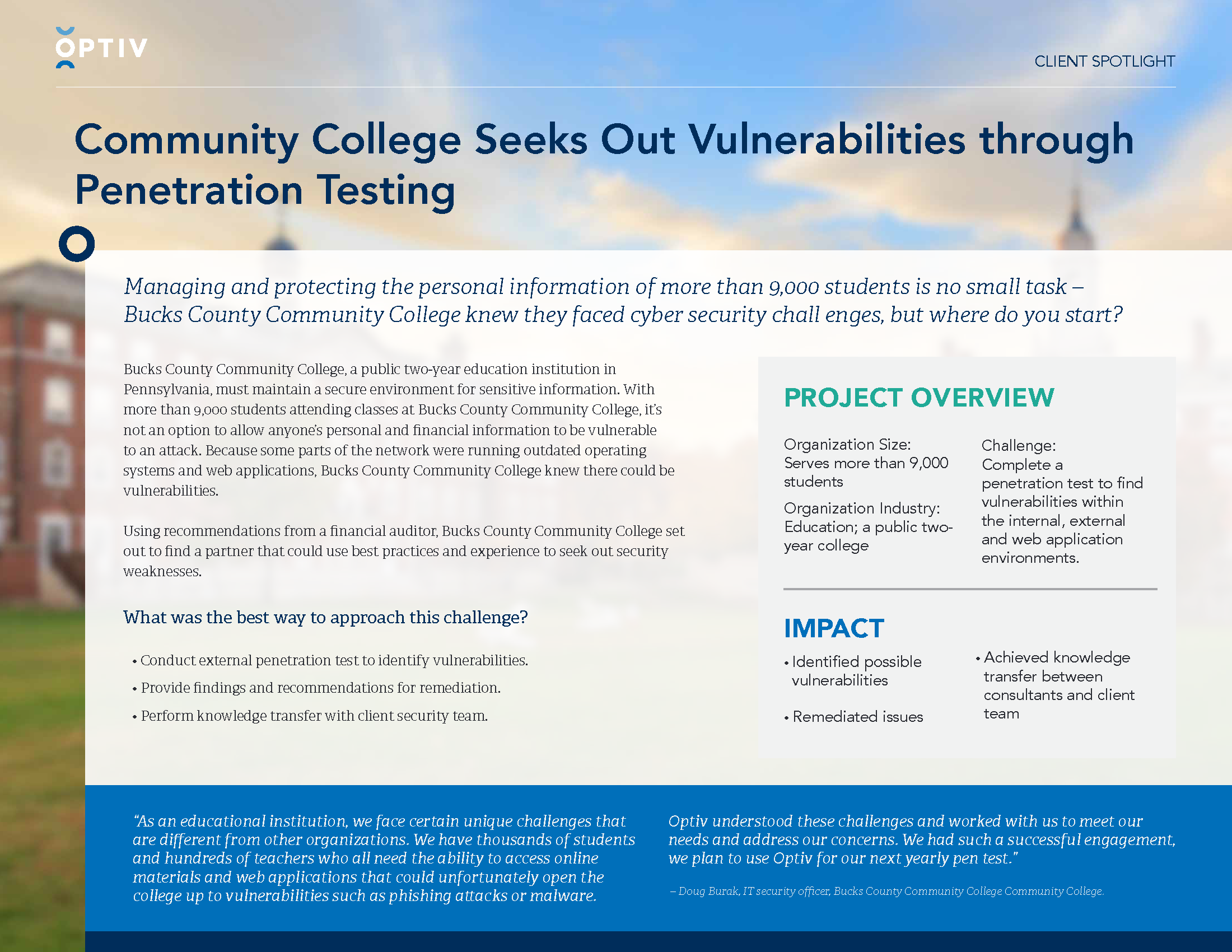 Community College Seeks Out Vulnerabilities through Penetration Testing