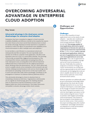 Overcoming Adversarial Advantage in Enterprise Cloud Adoption