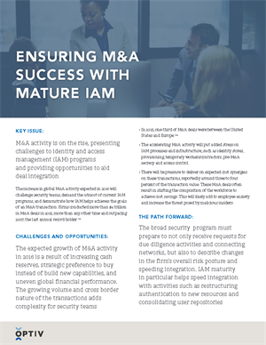 Ensuring M&A Success with Mature IAM
