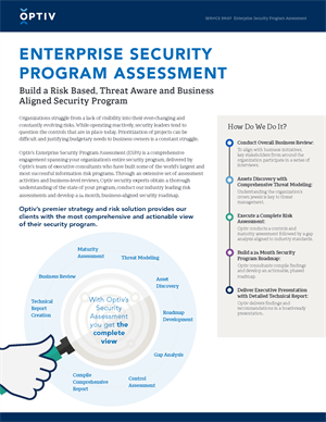 Enterprise Security Program Assessment