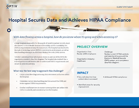 Hospital Secures Data and Achieves HIPAA Compliance