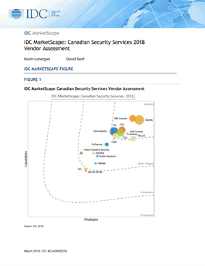 IDC MarketScape: Canadian Security Services 2018 Vendor Assessment