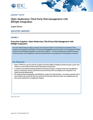 IDC Market Note: Optiv Modernizes Third-Party Risk Management with BitSight Integration