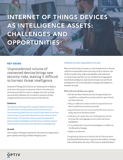 Internet of Things Devices as Intelligence Assets Brief