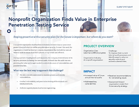 Nonprofit Organization Finds Value in Enterprise Penetration Testing Service
