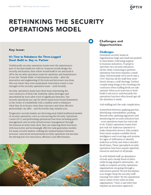 Rethinking the Security Operations Model
