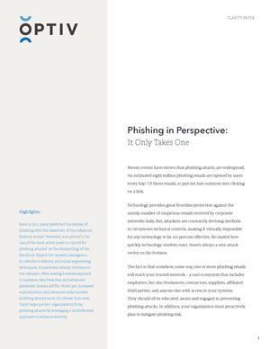 Phishing in Perspective: It Only Takes One