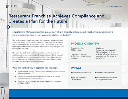 Restaurant Franchise Achieves Compliance and Creates a Plan for the Future