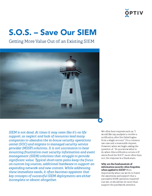 S.O.S - Save Our SIEM