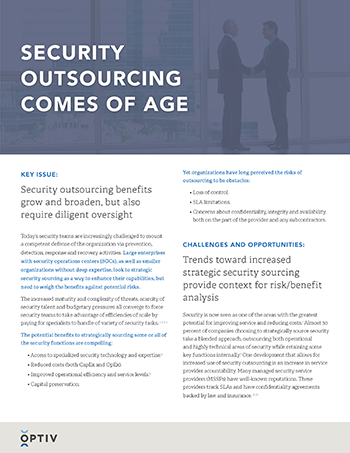 Security Outsourcing Comes of Age