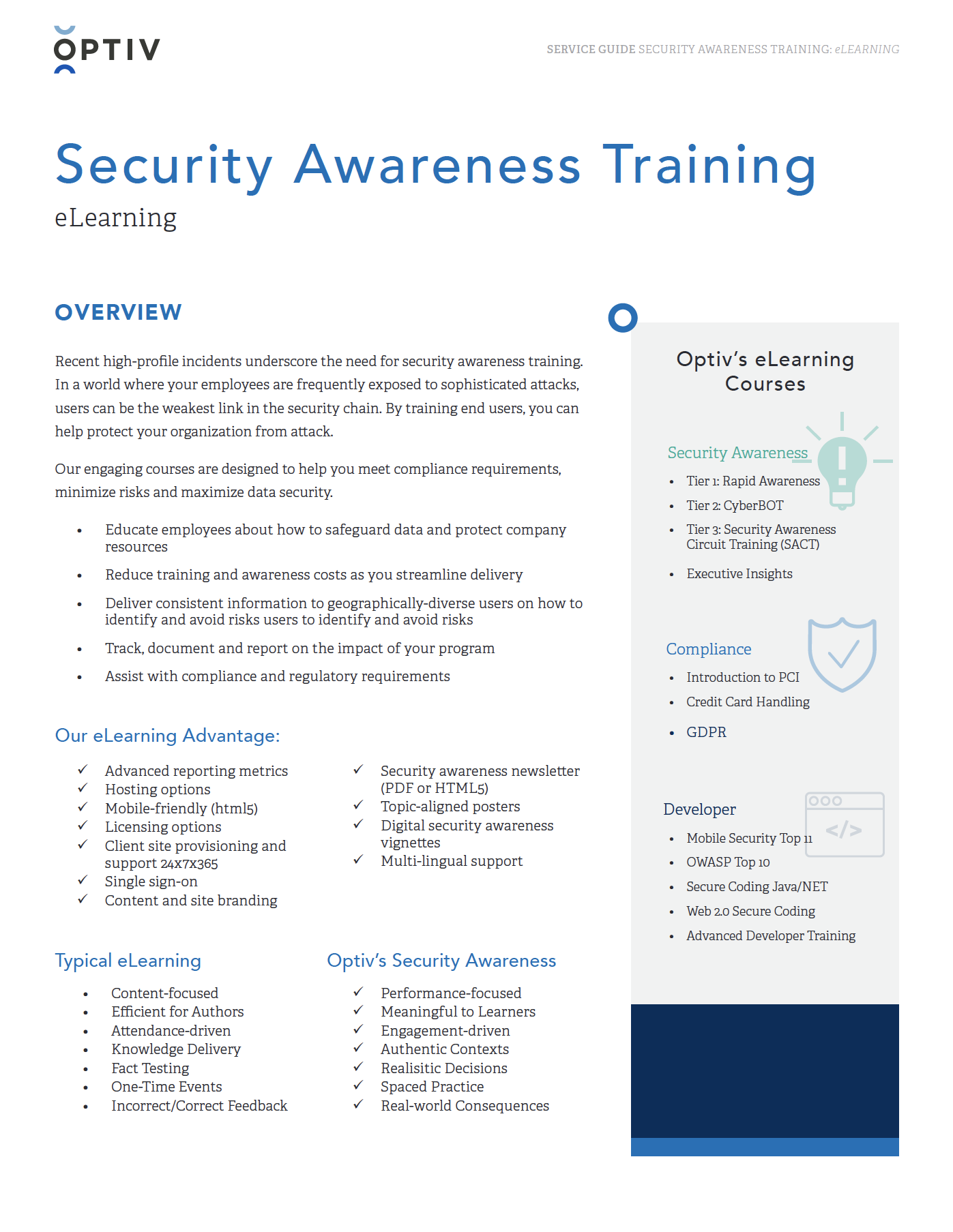 Security Communications and Awareness