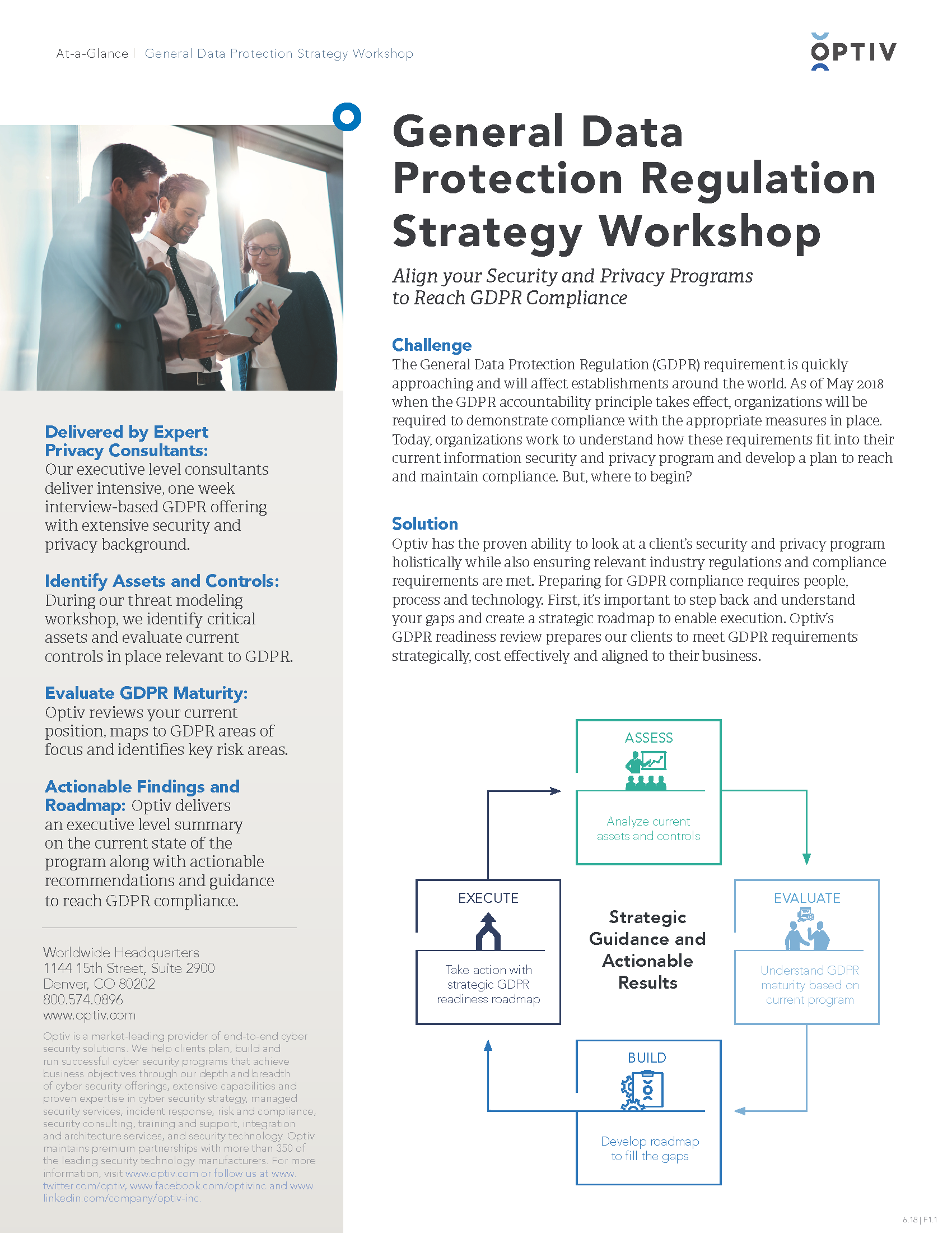 General Data Protection Regulation Readiness Review