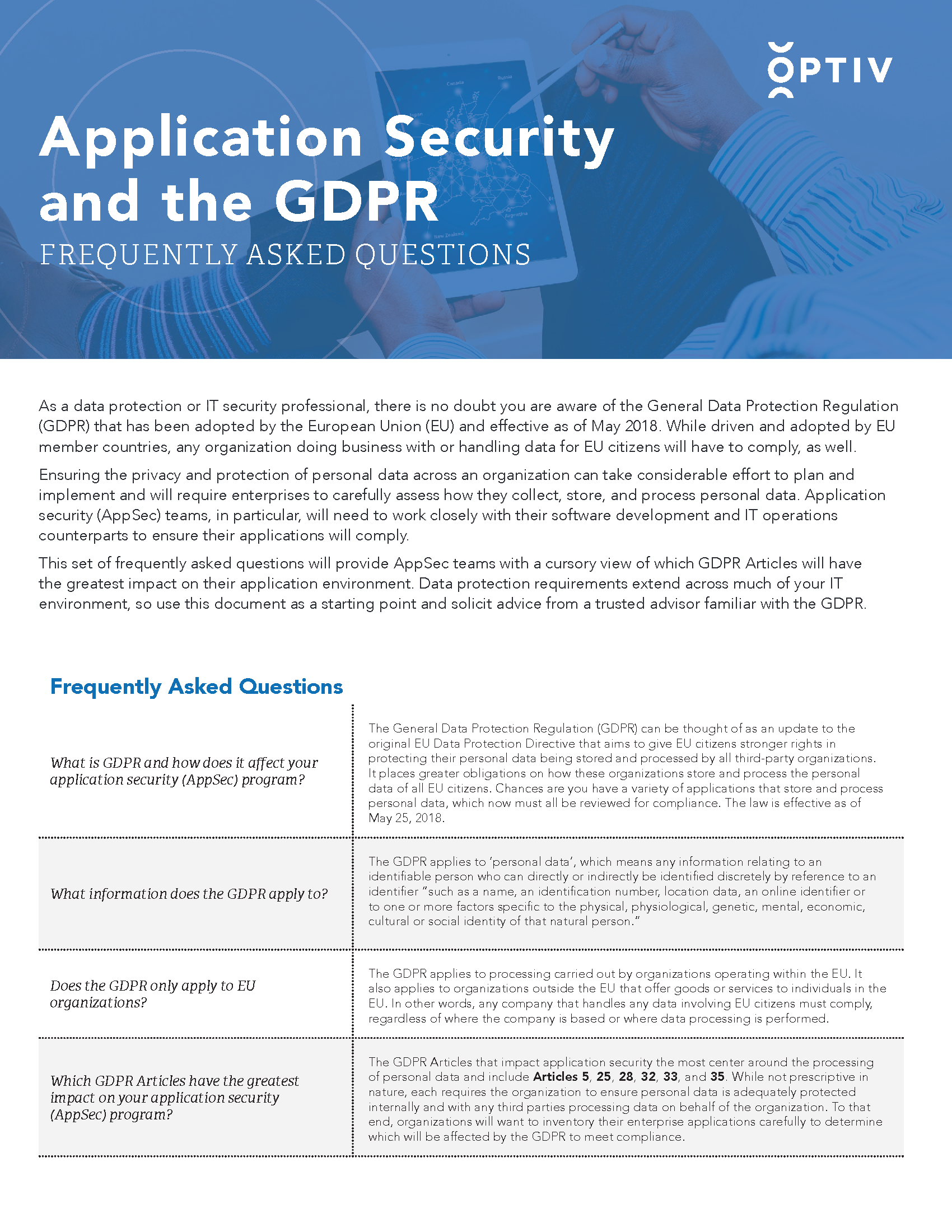 Application Security and the GDPR