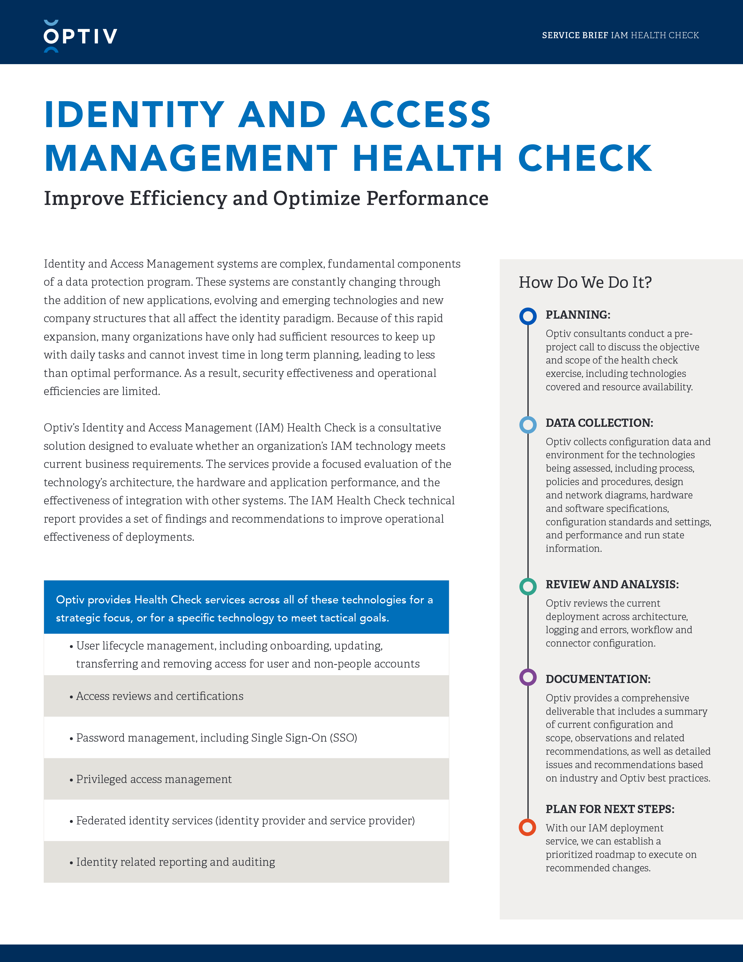 Identity and Access Management Health Check