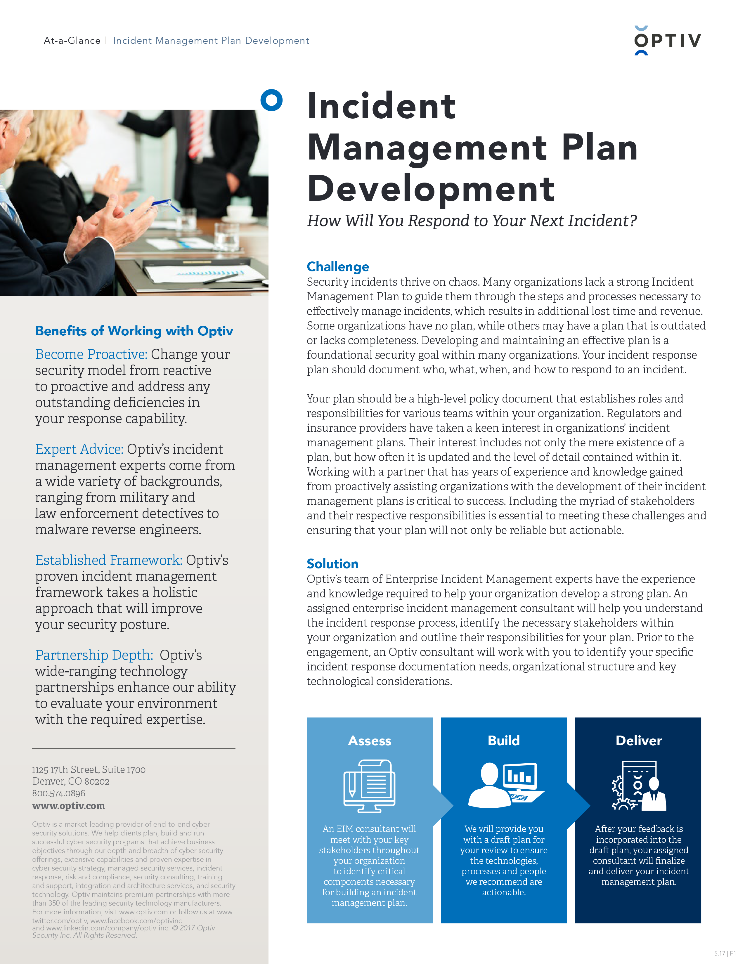Incident Management Plan Development