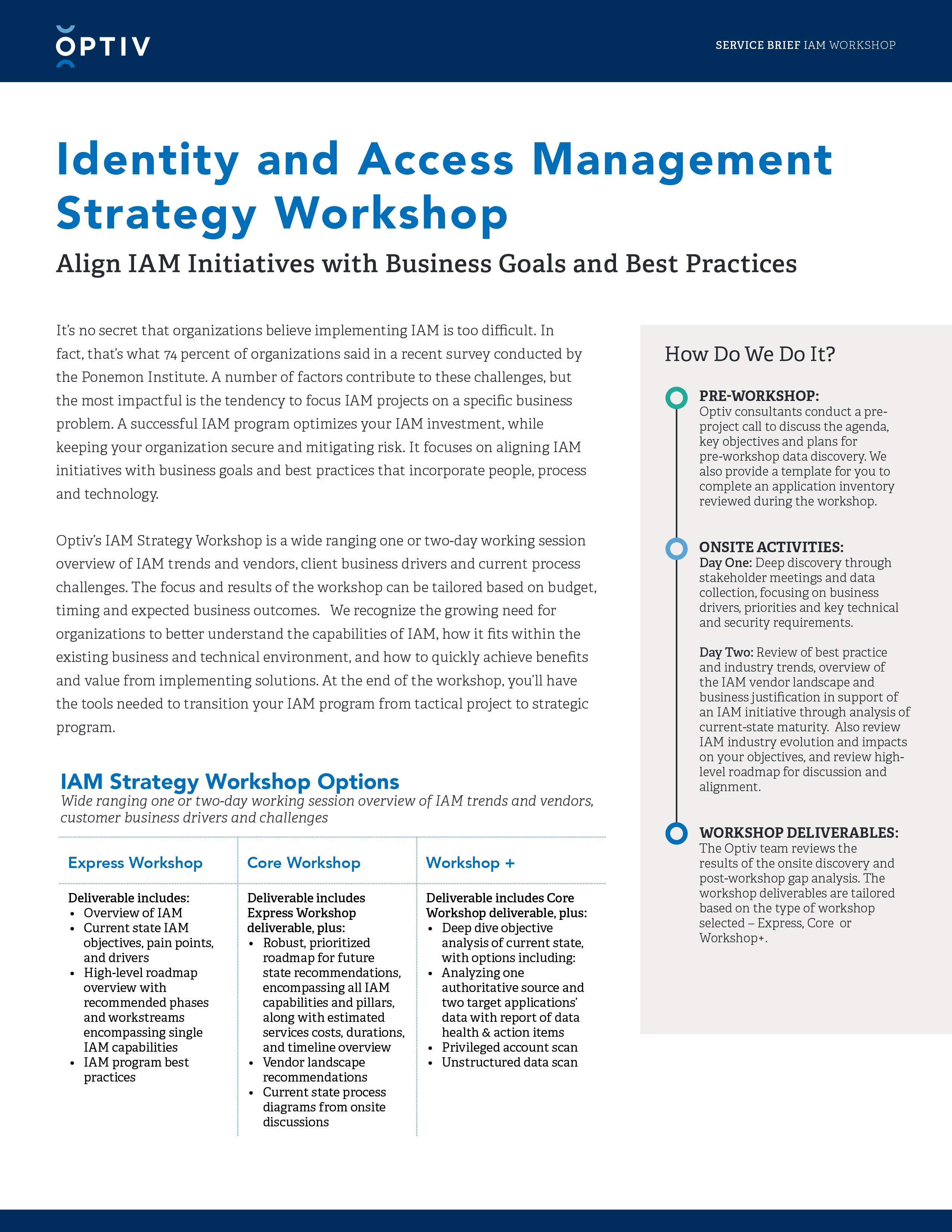 Identity and Access Management Strategy Workshop