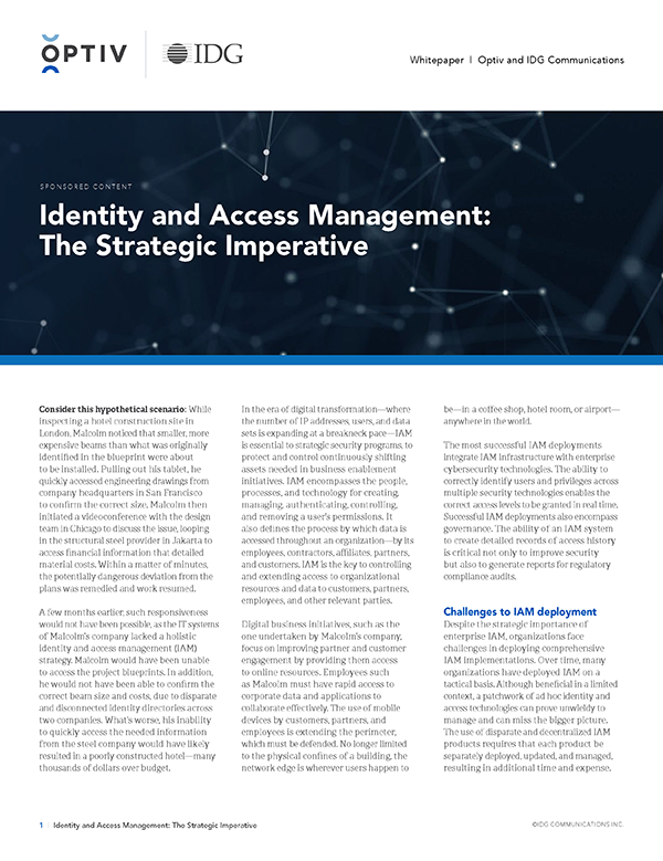 Identity and Access Management: The Strategic Imperative