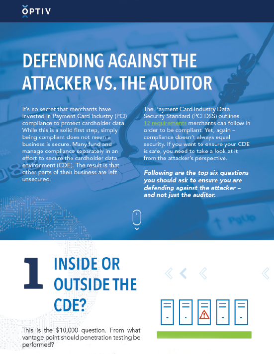 Defending Against the Attacker vs. the Auditor