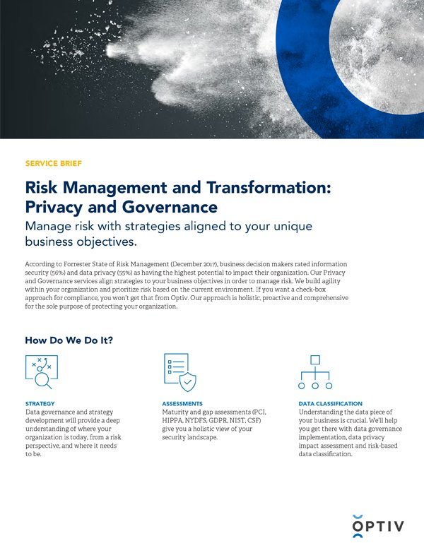 Risk Management and Transformation: Privacy and Governance