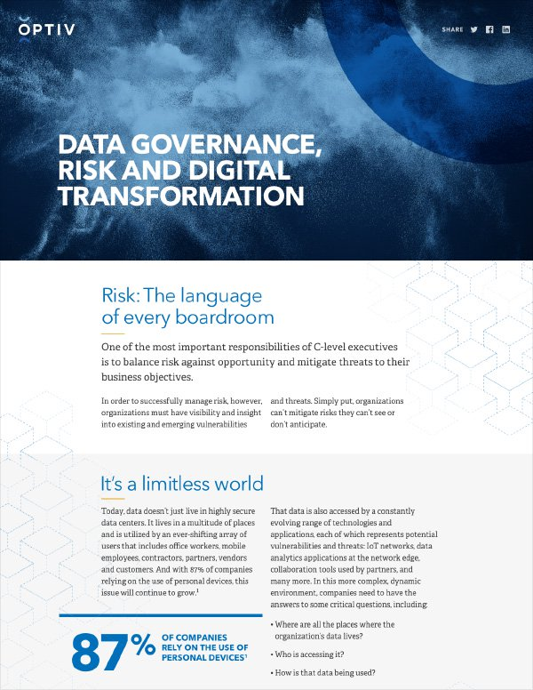 Managing Risk in a Digital Transformation (DX) World