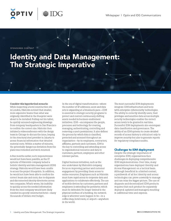 Identity and Data Management: The Strategic Imperative