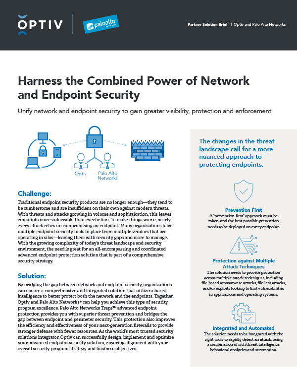 Harness the Combined Power of Network and Endpoint Security