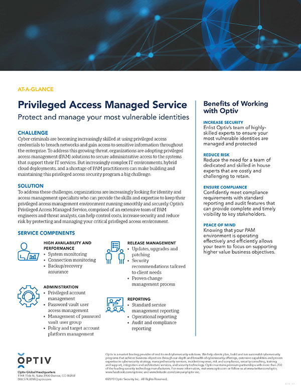 Privileged Access Managed Service