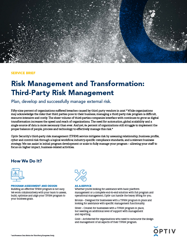 Risk Management and Transformation: Third-Party Risk Management
