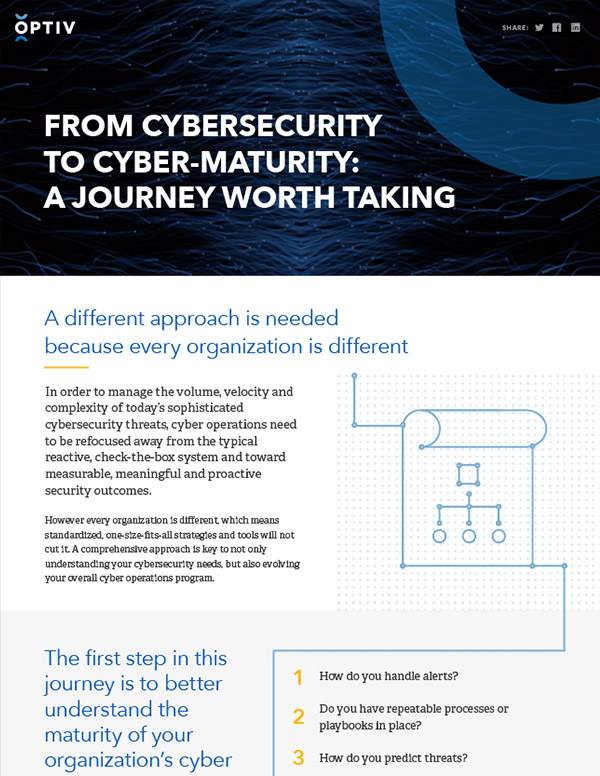 From Cybersecurity to Cyber-Maturity