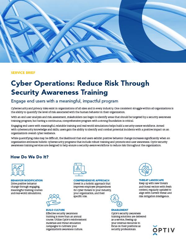 Security Awareness Training Service Brief