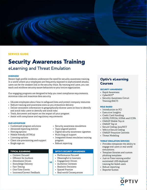 Security Awareness Training Service Guide