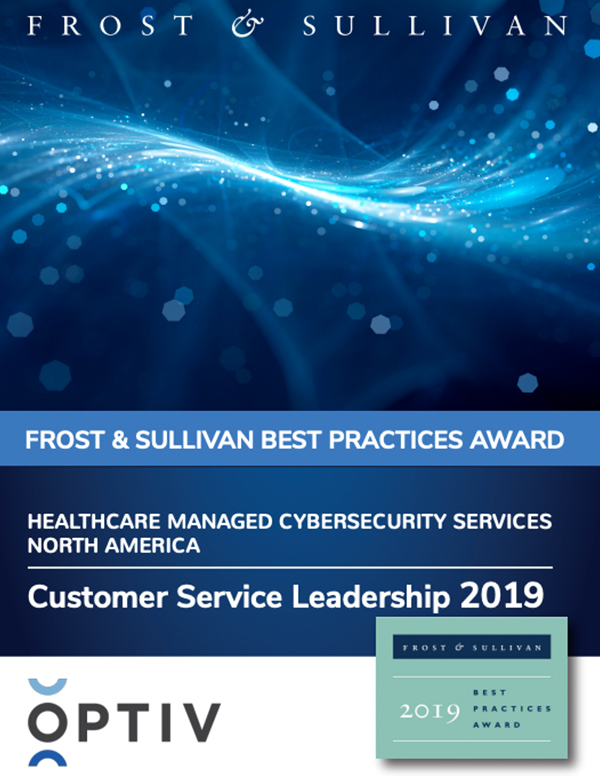Frost & Sullivan Customer Service Leadership Award for Healthcare Managed Cybersecurity Services