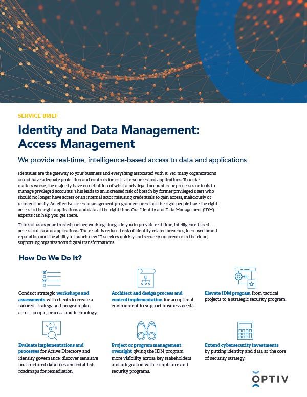 Identity and Data Management: Access Management Service Brief