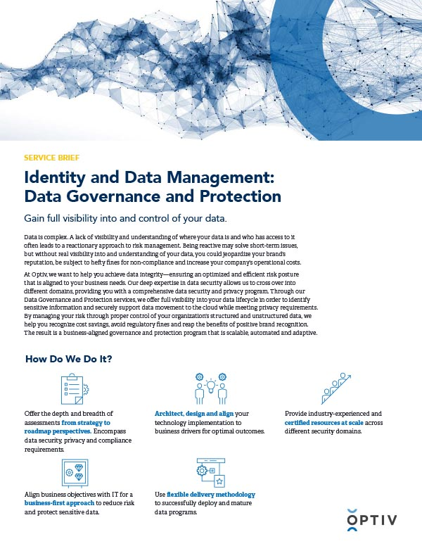 Identity and Data Management: Data Governance and Protection Service Brief