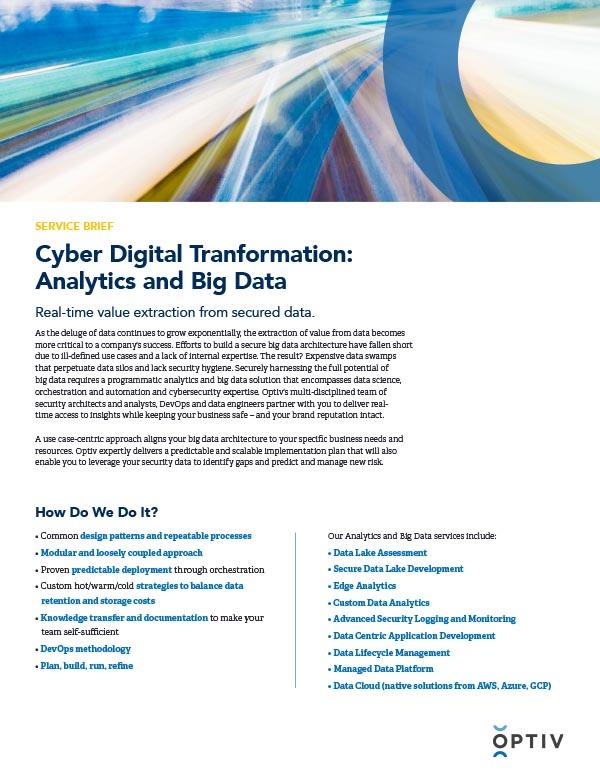 CDX Analytics and Big Data Service Brief