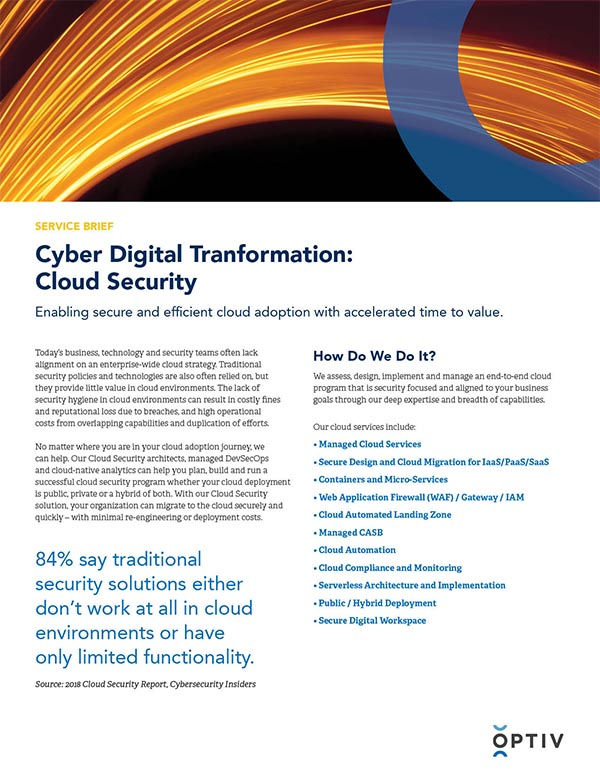 Cloud Security Service Brief