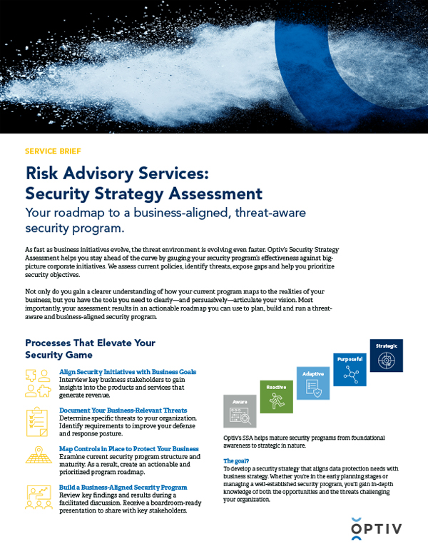 Risk Advisory Services: Security Strategy Assessment