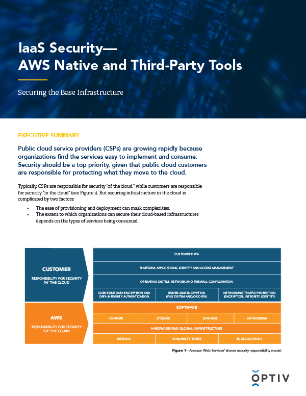 IaaS Security - AWS Native and Third-Party Tools Executive Summary