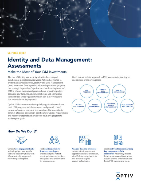 IDM Assessment Service Brief