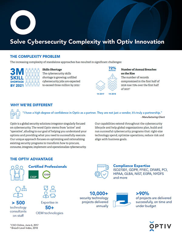 Solve Cybersecurity Complexity with Optiv Innovation