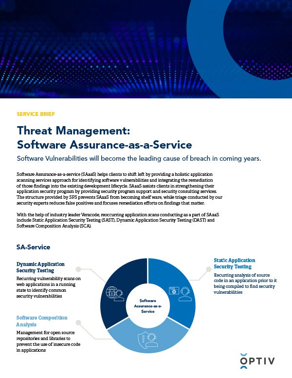 Software Assurance as-a-Service: Service Brief
