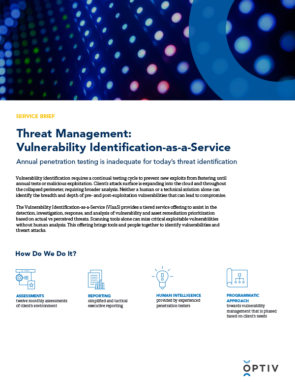 Threat Management: Vulnerability Identification as-a-Service