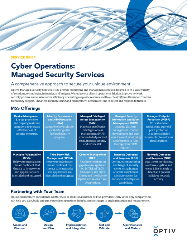 Managed Security Services - Service Brief
