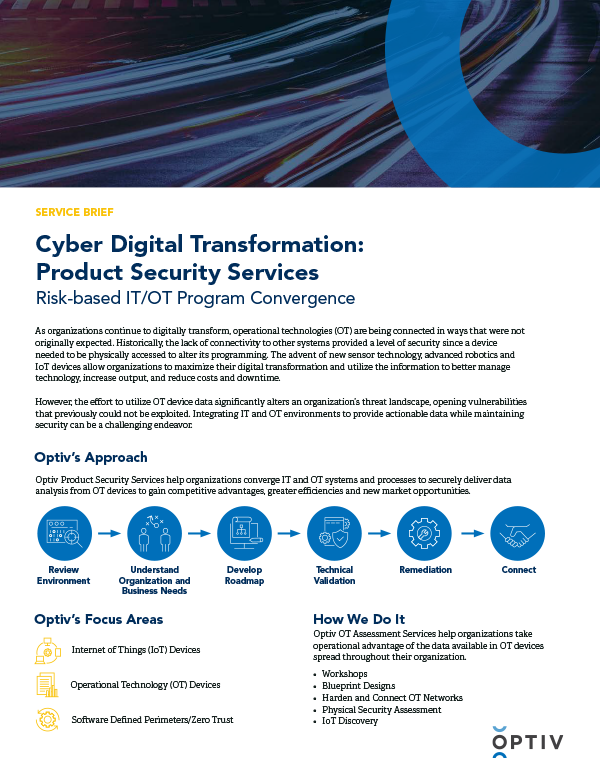 CDX Product Security Services Service Brief