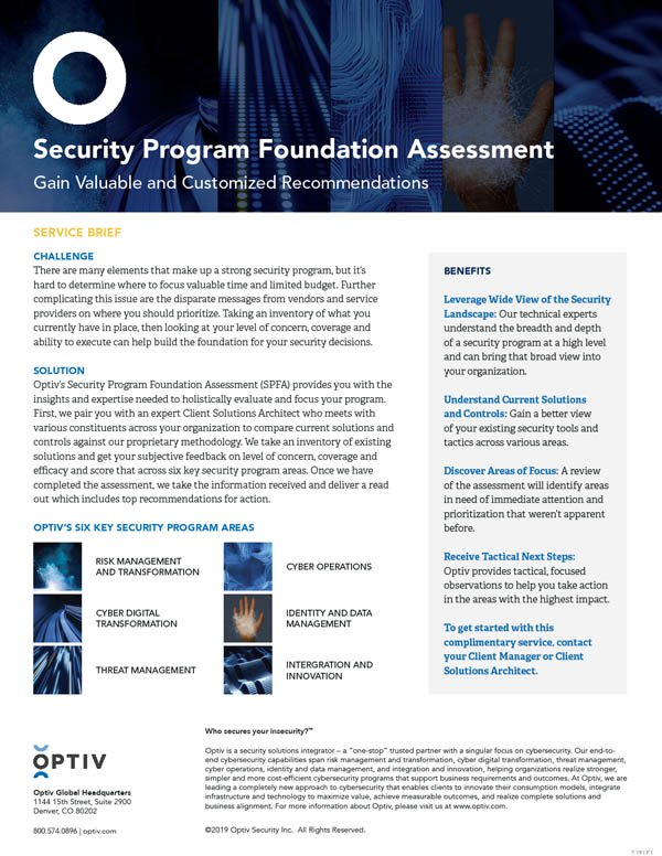 Security Program Foundation Assessment