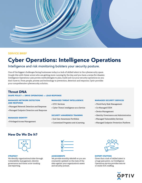 Intelligence Operations Service Brief