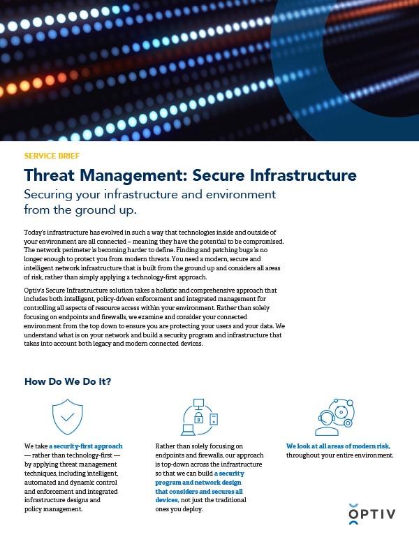 Threat Management: Secure Infrastructure Service Brief